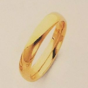 14k Solid Yellow Gold Comfort fit size 5